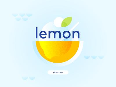 Lemon ice design graphic illustration vector circles 1992 since lemonade sour yellow orange leaf fresh cream icecream ice lemon