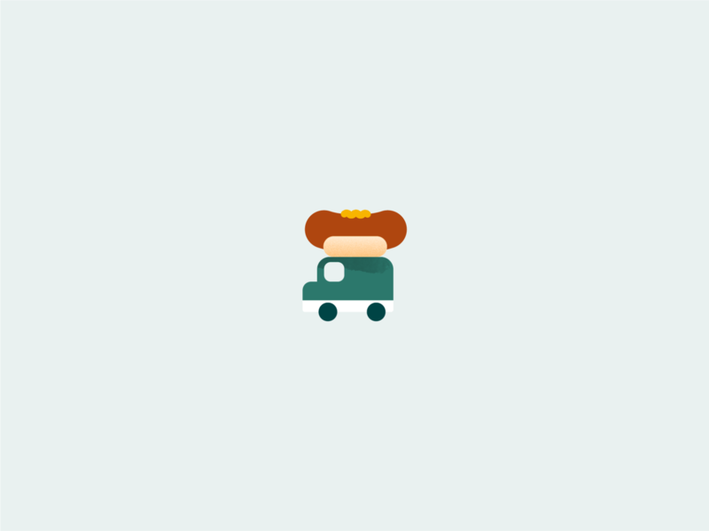 Sausage van vector van truck sausage illustrator illustration hotdog graphic food flat design art