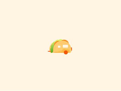 Tacoway! fun vectorart art graphic design flat caravan wheels taco food illustration illustrator freelance vector
