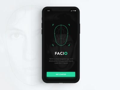 Facial Recognition App Concept