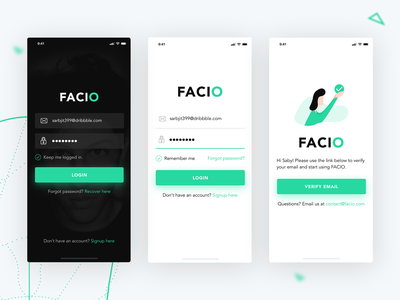 Freebie - Login Pages Mockups (PSD, Sketch) ai facial recognition mobile minimal design ux ios flat vector ui app app concept