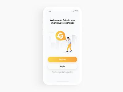 Crypto Exchange App Splash Screen