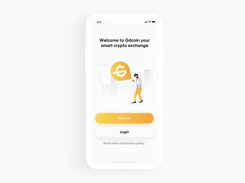 Crypto Exchange App Splash Screen branding logo illustrator icon minimal ux ui app design flat illustration vector