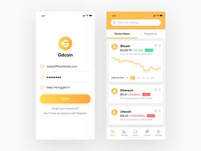 Crypto Exchange App Screens