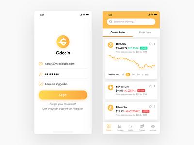 Crypto Exchange App Screens illustrator logo branding mobile app design ux minimal ui design app flat vector