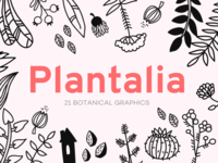 Plantalia - 21 botanical graphics