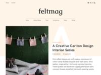 FELT Magazine Theme - Blog Post Concept