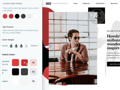 Color Palettes - Editing Colors UI theme wordpress customizer editor color ux color palette ui