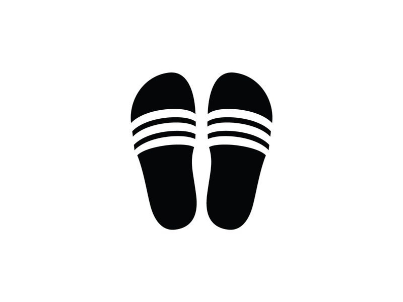 Adilette Slides negative space logo negativespace design abstract illustration vector logotype geometric minimal symbol icon logo adidas slides