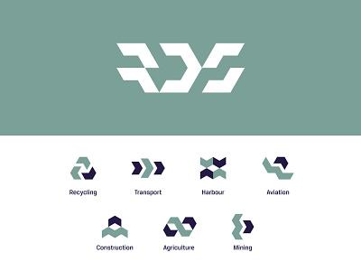 RDS Icons iconography grid isometric iconset icons vector design logotype geometric branding monogram symbol minimal icon logo