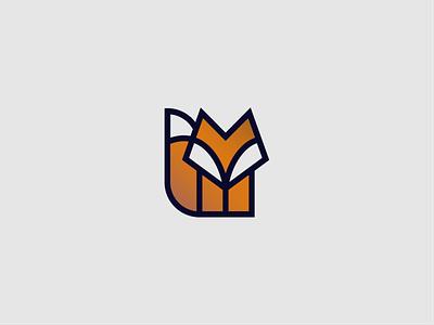 Fox foxy thicklines fox abstract mark vector design geometric branding minimal symbol icon logo