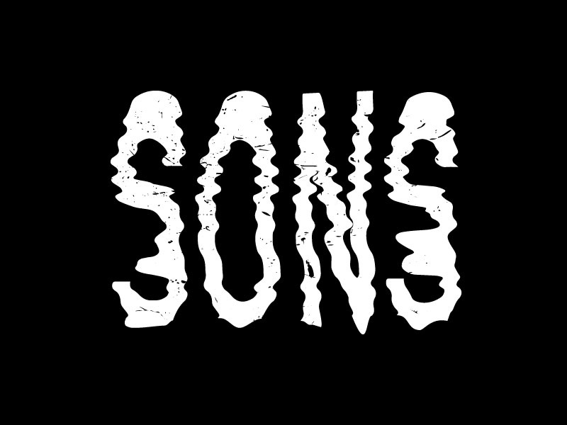 SONS dirty noise music chaos grunge distorted design vector branding logotype typography icon logo