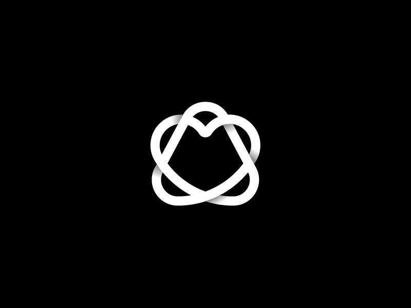 A Star / Heart infinity infinite loop connected star a heart vector design branding mark geometric minimal logotype symbol typography monogram icon logo