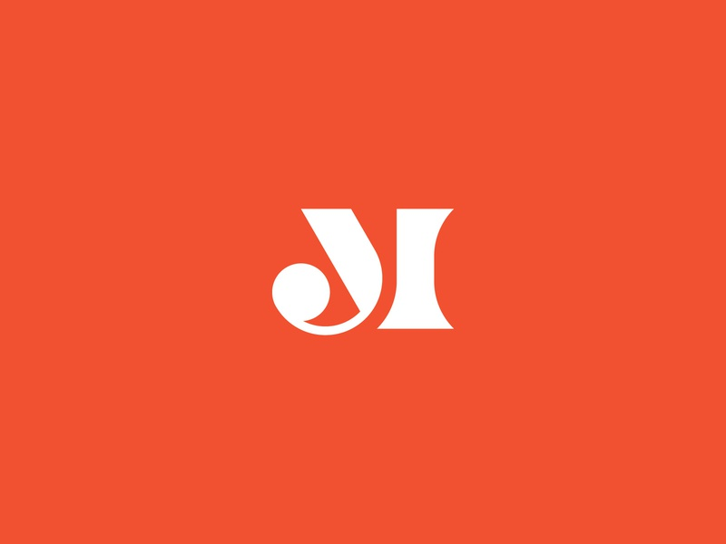 JM abstract bold serif jm vector mark design branding geometric logotype typography minimal symbol monogram icon logo