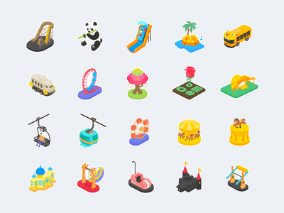 attraction icons graphic illustraion icon attractions amusement park