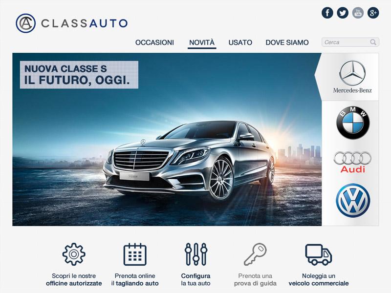 Class Auto Web Site web car homepage