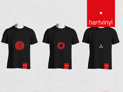 hartvinyl t-shirt label kickstarter crowdfunding branding productdesign music vinyl label design t-shirts hartvinyl