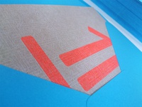 The direct mailing in blue envelope