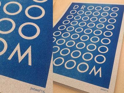 DROOOOM  A3 Poster jwtwel print muskat grey illustartion droom dream blue a3 poster risoprint risograph riso