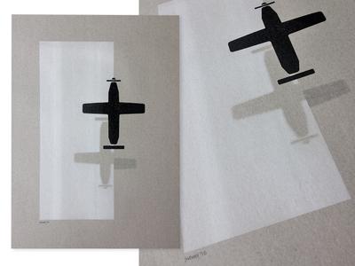 Plane - A3 Riso poster