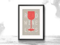READ WINE LIPS  |  New design A3 Riso poster