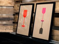 Packshot new series of wine Riso posters