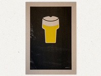 BEER A3 Riso Poster