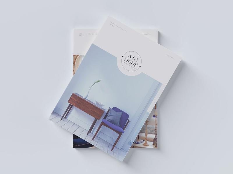 A la Mode Printed Lookbook home interior home interiors layout editorial design editorial mockup minimal lookbook magazine print design