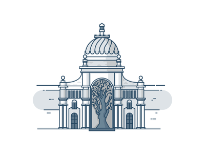 Agricultural Palace.  tree palace agricultural kazan building vector icon