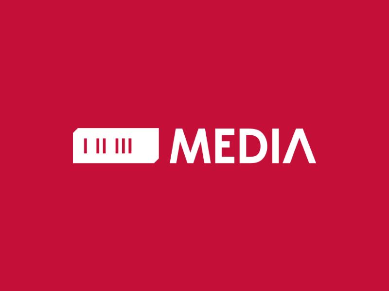 123 MEDIA type symbol personal monogram minimal mark logotype logo identity design branding illustration