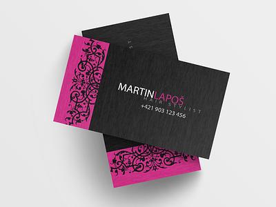 Hair Stylist - Business Card hair stationary print illustrator illustration identity dark cards card businesscard business branding