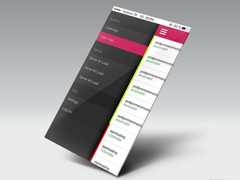 Server Monitor App web ux ui mobile iphone interface flat dark dailyui app ios android