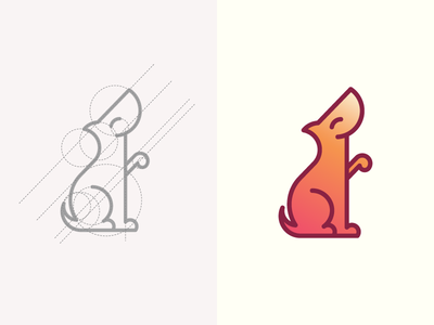 Fetch Logo Concept logo illustration character smile pet cute puppy dog
