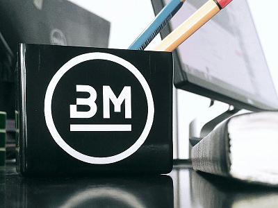 Bm Sticker studio life sticker typo logo mark logo branding