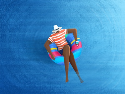Weekend Illustration hat drink swimming pool travel trip human blue water enjoy pool holiday weekend illustration