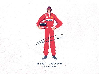 RIP Niki Lauda formulaone helmet illustration rip champion formula1 race car ferrari legend nikilauda niki