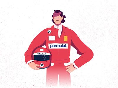 RIP Niki Lauda rip ferrari formulaone formula1 champion race illustration car legend nikilauda niki
