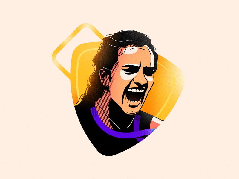 P V Sindhu -  World Badminton Champion 2019 proud india drawing gold medal roar female girl women championship champion badminton pvsindhu illustration