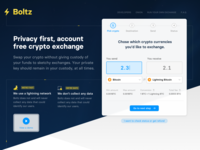 Boltz white blue website crypto