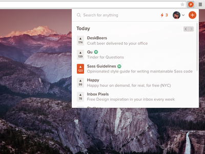 Product Hunt Extension (WIP) chome plugin orange search