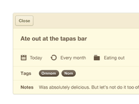 Ate out at the tapas bar