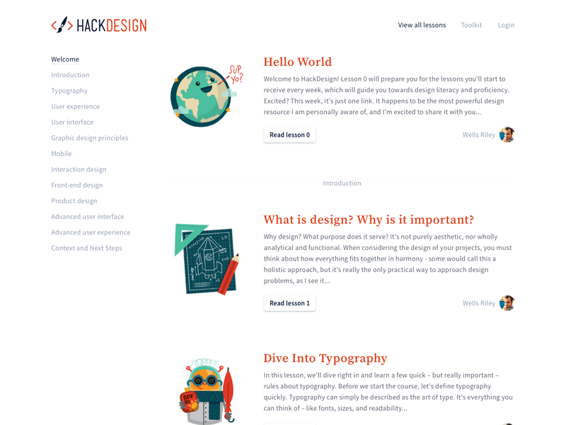 Lessons lots and lots of white illustrations orange white lessons articles hackdesign
