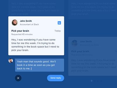 John Smith app web reply blue brains pick card