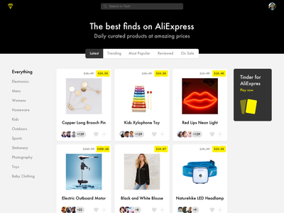 The best finds consumerism yellow black white aliexpress thieve