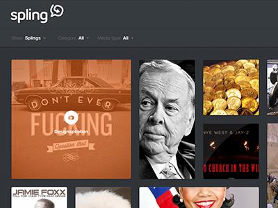Spling beta webapp different from pinterest really