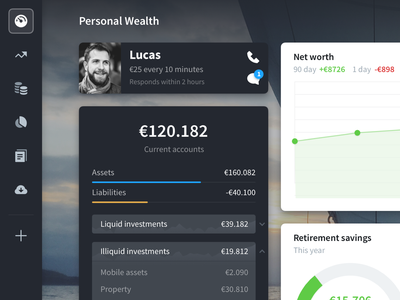 Lucas dark widgets ui pack dashboard money webapp