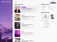 Most recent news purple ui web plugin home dashboad