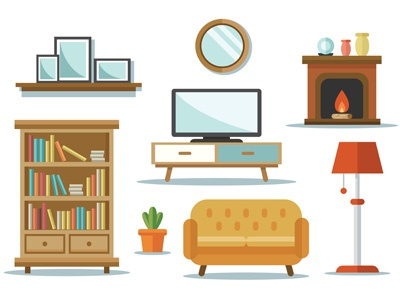 Home Interior Vector By Wahyu Setyanto On Dribbble