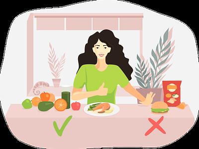Healthy diet diet vector illustration