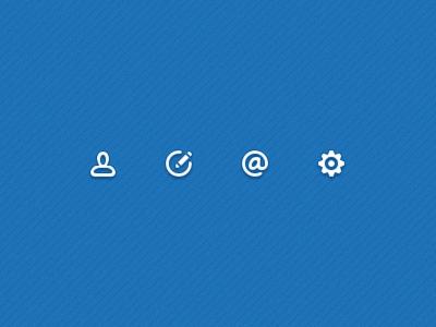Icons icons user write @ setting
